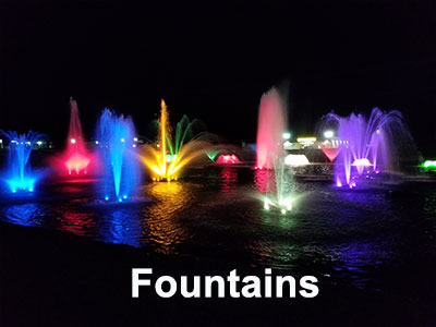 Fountains for  healthy, visually appealing Lakes and Ponds